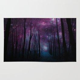 Fantasy Forest Path Dark Rug