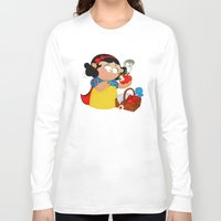 snow white Long Sleeve T-shirts featuring Snow White (apple) by Alapapaju