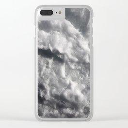 Sea wave foam Clear iPhone Case