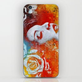 To Our Friends in the Great White North   graffiti woman with roses iPhone Skin