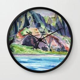 Majestic Na Pali Coast Wall Clock