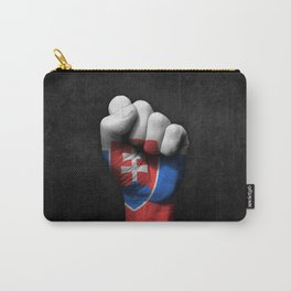 Slovakian Flag on a Raised Clenched Fist Carry-All Pouch