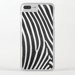 Animal Photography | Zebra | Minimalism | Wildlife Art | Black and White Clear iPhone Case