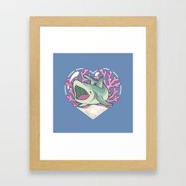 GULP, the Basking Shark Framed Art Print