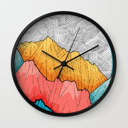 The crosshatch peaks Wall Clock
