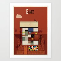 eames Art Prints featuring eames by federico babina