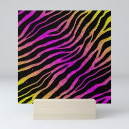 Ripped SpaceTime Stripes - Yellow/Pink Mini Art Print