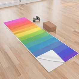 Solid Rainbow Yoga Towel