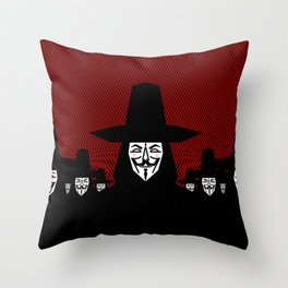 Million Mask March Throw Pillow