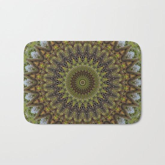 Kaleidoscope No. 6 - Green Bath Mat