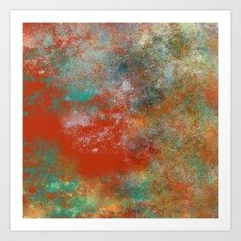 A Burst of Orange Art Print