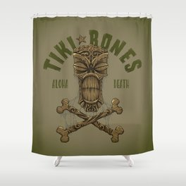 Tiki Bones Shower Curtain