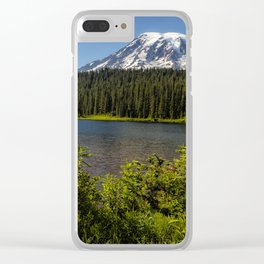 Wildlflower Color by Reflection Lake and Mt Rainier, No. 1 Clear iPhone Case