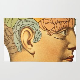 Phrenology | A Picture of Good Health circa 1881 Rug