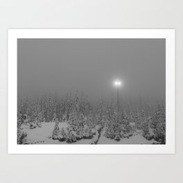 Dark day in the mountains Art Print