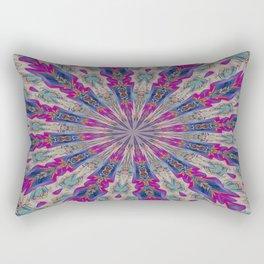 Totem Kaleidoscope In Purple Red and Jade Rectangular Pillow
