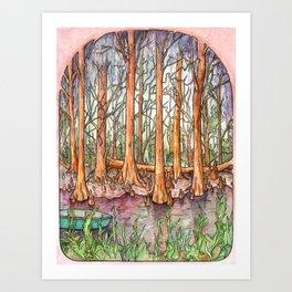 Cypress Natives Art Print
