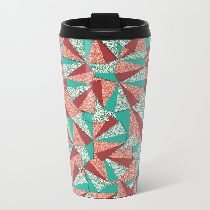Marsala Pattern Metal Travel Mug