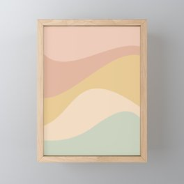 Abstract Color Waves - Neutral Pastel Framed Mini Art Print