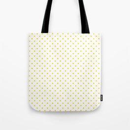 Dots (Gold/White) Tote Bag