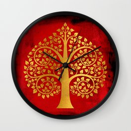 Bodhi Tree0109 Wall Clock