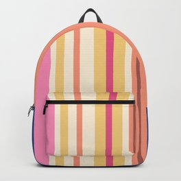Stripes in fresh color for a good mood Backpack