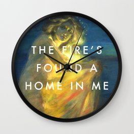Woman Clothed with the Yellow Flicker Beat Wall Clock