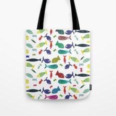 Happy colourful fish  Tote Bag