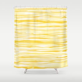 Milk and Honey Yellow Stripes Abstract Shower Curtain
