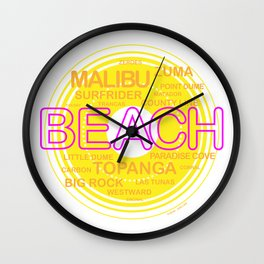Southern California Beaches Wall Clock