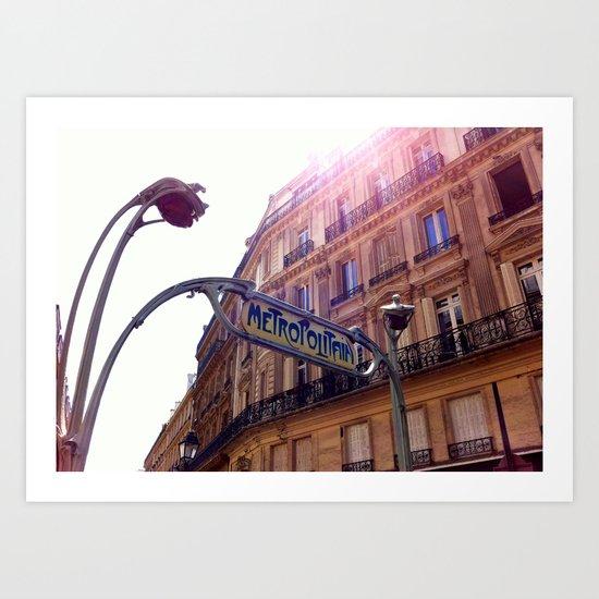 The Metro, Paris Art Print