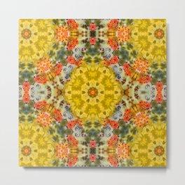 Marigold Kaleidoscope Photographic Pattern #1 Metal Print