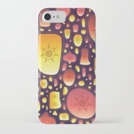 Tangled Lanterns Pattern iPhone Case