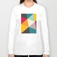 triangles Long Sleeve T-shirts featuring Triangles by Gary Andrew Clarke