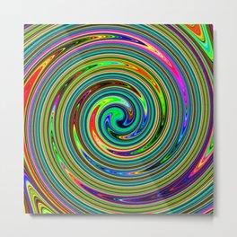 Summer Swirl – Clock 3 - Living Hell Metal Print