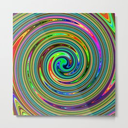 Summer Swirl – Clock 3 - Living Hell Metal Print