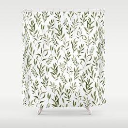 Eucalyptus - green leaves Shower Curtain