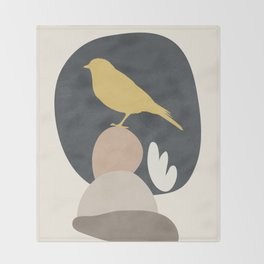 Cute Little Bird II Throw Blanket