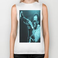 "miles davis Biker Tanks featuring Miles Presents ""The In Blue"" by Revolutionthrulife"