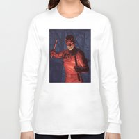 daredevil Long Sleeve T-shirts featuring Daredevil by Arne AKA Ratscape