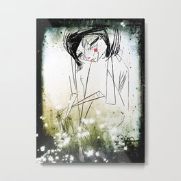 first breath after  coma... Metal Print