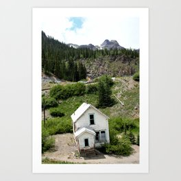 Switchbacks Down from Red Mountain Pass to the Idarado Mine Art Print