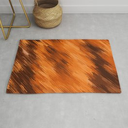 brown orange and dark brown painting texture abstract background Rug
