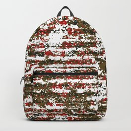 Grunge Textured Abstract Pattern Backpack