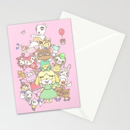 Animal Crossing (pink) Stationery Cards