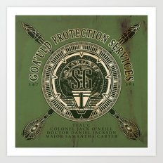Goa'uld Protection Services Art Print