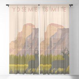 Yosemite Park Sheer Curtain
