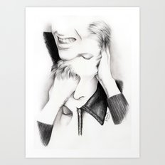 DECONSTRUCTION OF DAVID BOWIE  Art Print