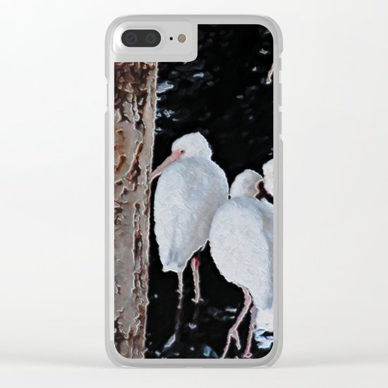 Ibises Under a Bridge (revamped) Clear iPhone Case