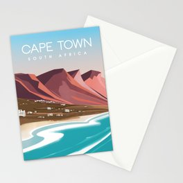 Cape town south africa poster Stationery Cards